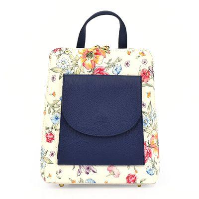 vp1025fl granatowy Elegancki, luksusowy plecak skórzany
