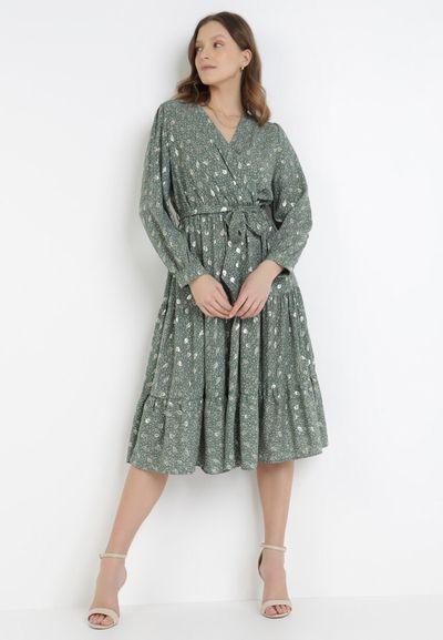 Zielona Sukienka Cintrine