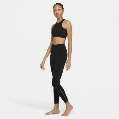Damskie legginsy 7/8 z wysokim stanem i wycięciem Nike Yoga Dri-FIT - Czerń