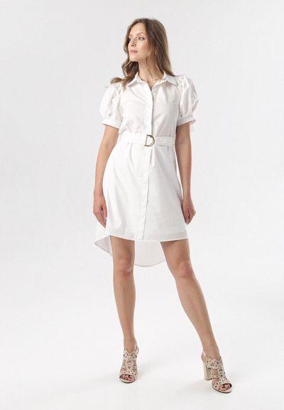 Biała Sukienka Calomis