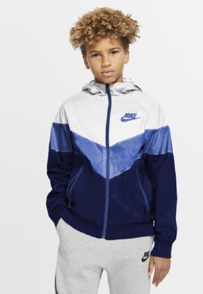 Kurtka dla dużych dzieci Nike Sportswear Windrunner - Biel
