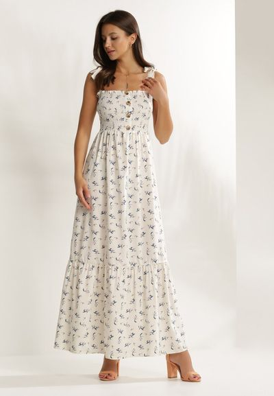 Kremowa Sukienka Elrinraya
