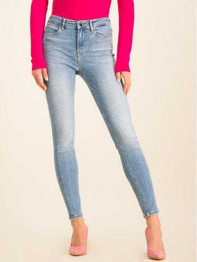 Guess Jeansy Skinny Fit 1981 W01A46 D38R6 Niebieski Skinny Fit