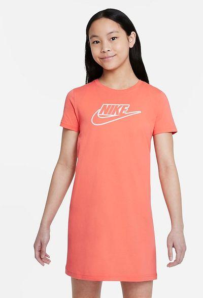 Sukienka typu T-shirt dla dużych dzieci (dziewcząt) Nike Sportswear - Pomarańczowy