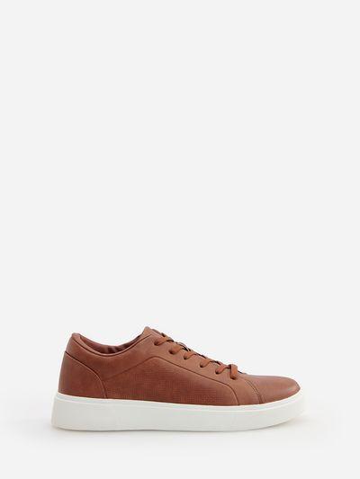 Buty o sportowym stylu - Brązowy