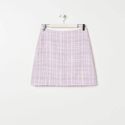 Spódnica mini w kratkę - Wielobarwny