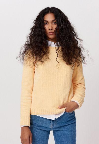 Sweter z szenili - Żółty