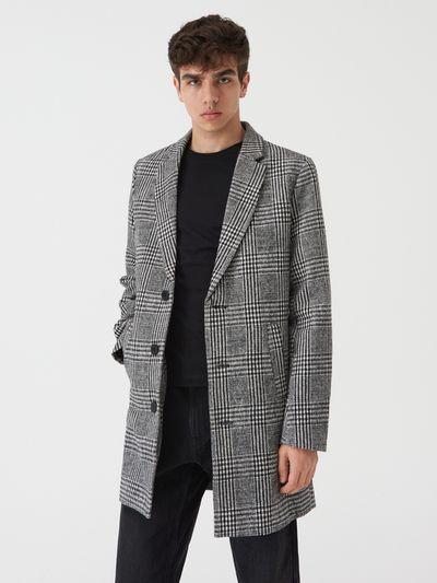 Klasyczny jednorzędowy płaszcz - Wielobarwny